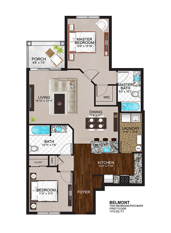 The Residences at Lexington Hills - Floor Plans - Belmont