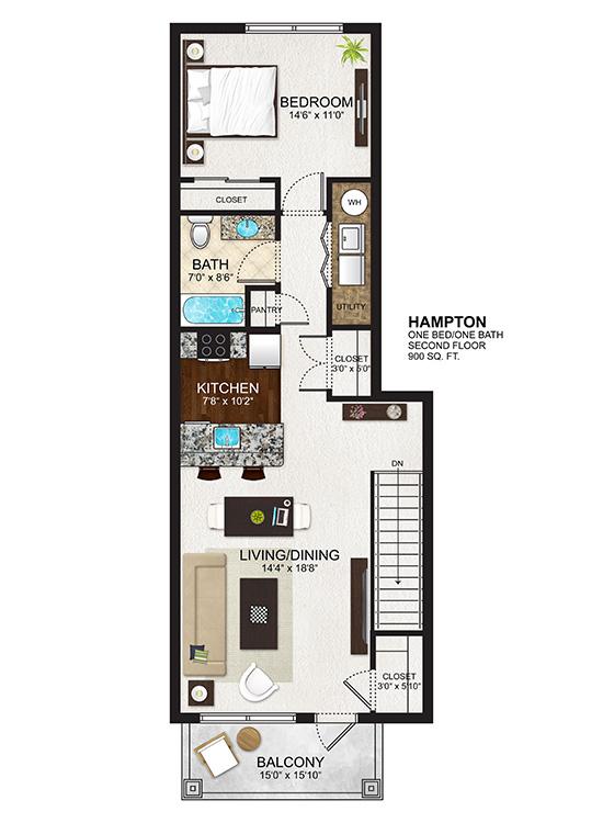The Residences at Lexington Hills - Floor Plans - Hampton