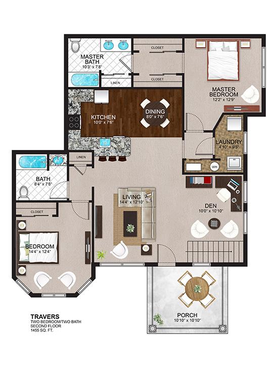 The Residences at Lexington Hills - Floor Plans - Travers