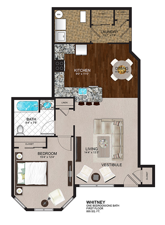 The Residences at Lexington Hills - Floor Plans - Whitney