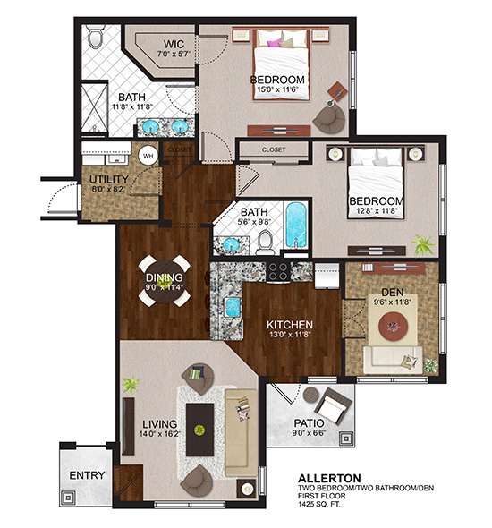 The Residences at Lexington Hills - Floor Plans - Allerton