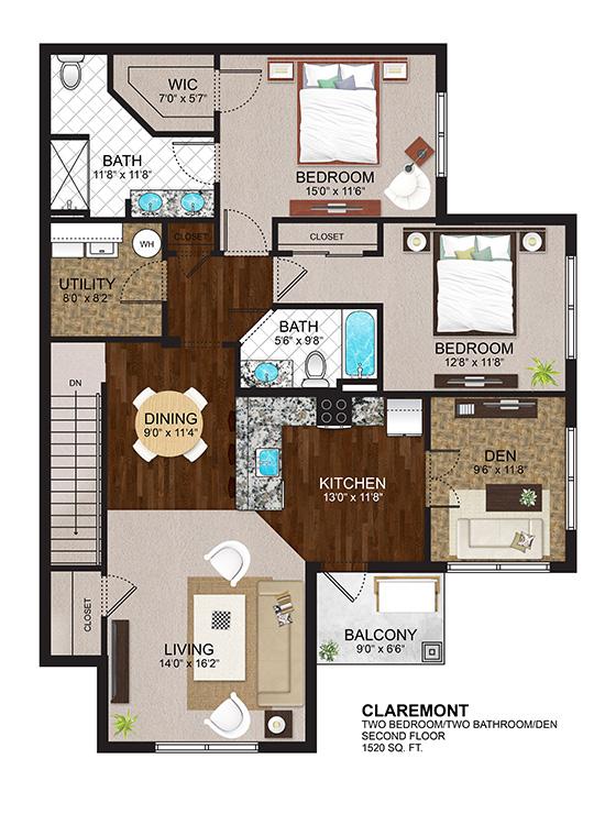 The Residences at Lexington Hills - Floor Plans - Claremont