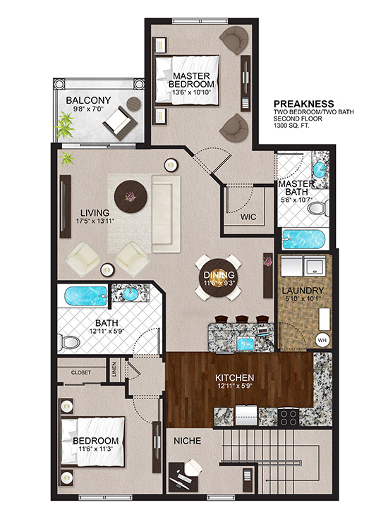 The Residences at Lexington Hills - Floor Plans - Preakness