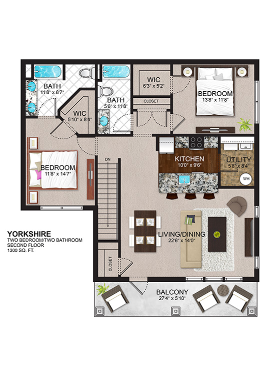 The Residences at Lexington Hills - Floor Plans - Yorkshire